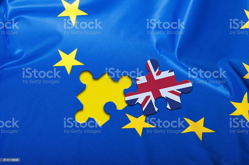 Brexit - Flag of European Union stock photo