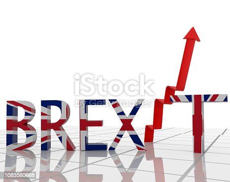 istock brexit great britain text arrow index background - 3d rendering 1083560668