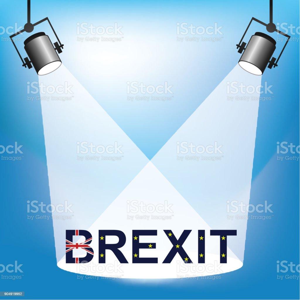 Brexit Lamp stock photo