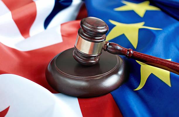 Brexit legal trade negotiations concept stock photo