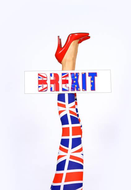brexit beine - liebeskummer englisch stock-fotos und bilder