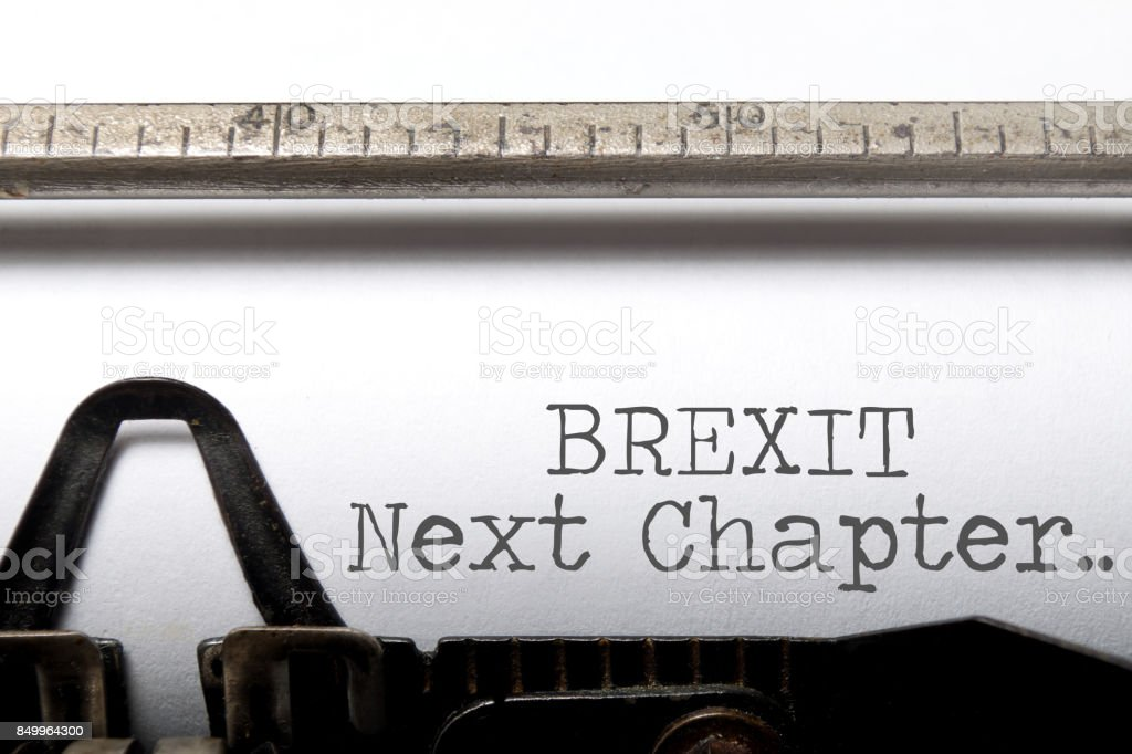 Brexit next chapter stock photo