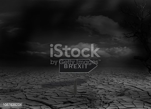 istock Brexit sign on a desert 1057635204