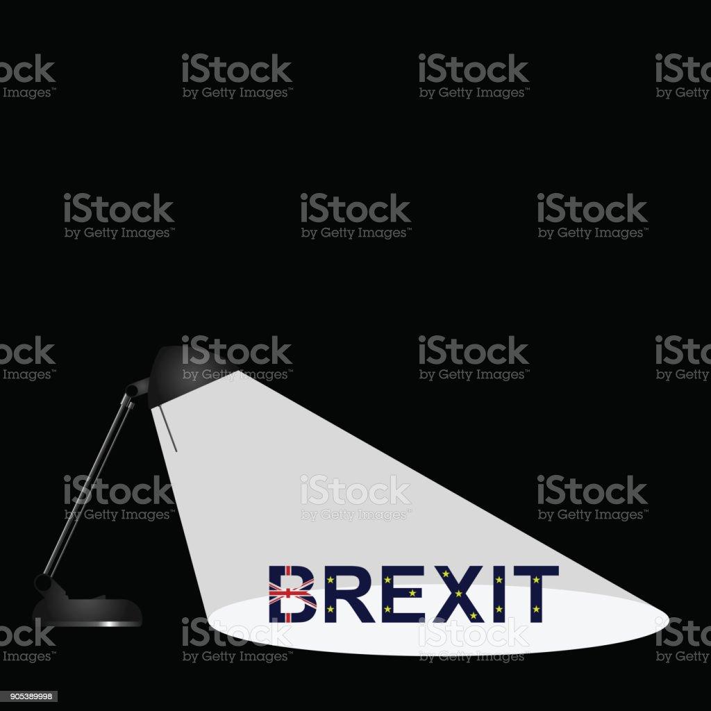 Brexit Spotlight stock photo