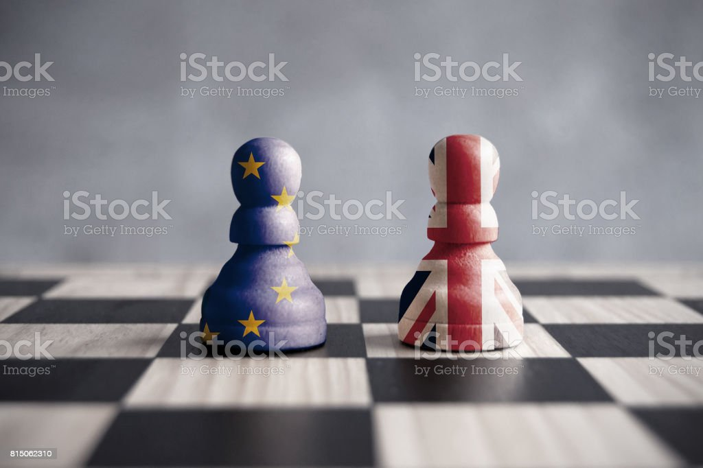 Brexit strategy concept stock photo