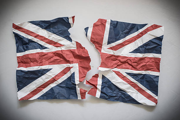 Brexit United Kingdom Divided stock photo