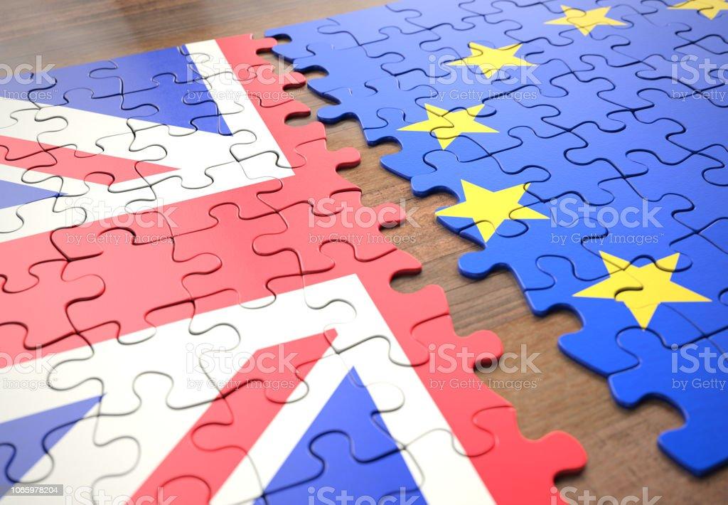 Brexit Vereinigtes Königreich EU Puzzleteile – Foto