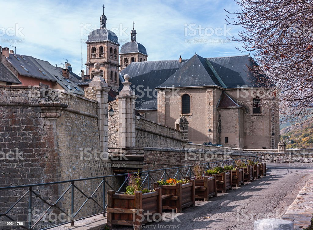 Briançon, France. Entrance of the old town stock photo