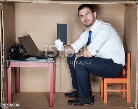 istock bribe in the businessman office 507754216