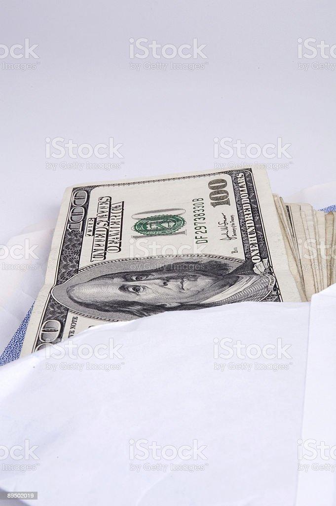 Tangente di denaro foto stock royalty-free