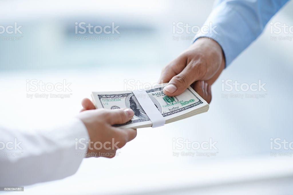 Bribe stock photo