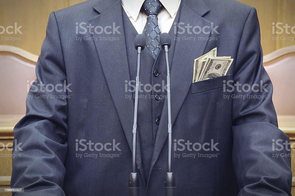 Bribery concept stock photo