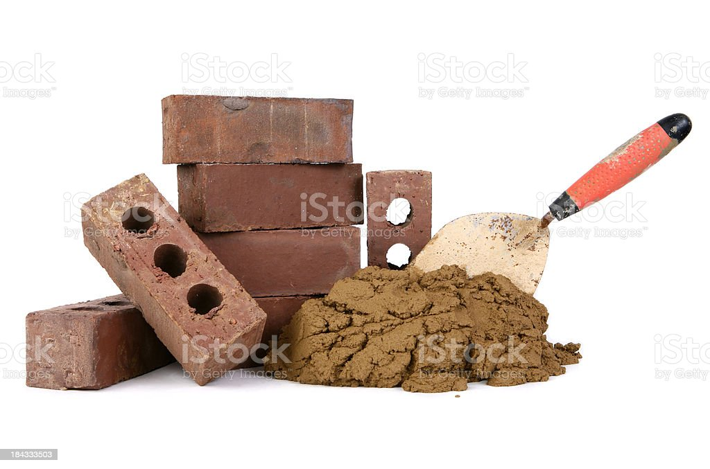 Brick and Mortar stock photo