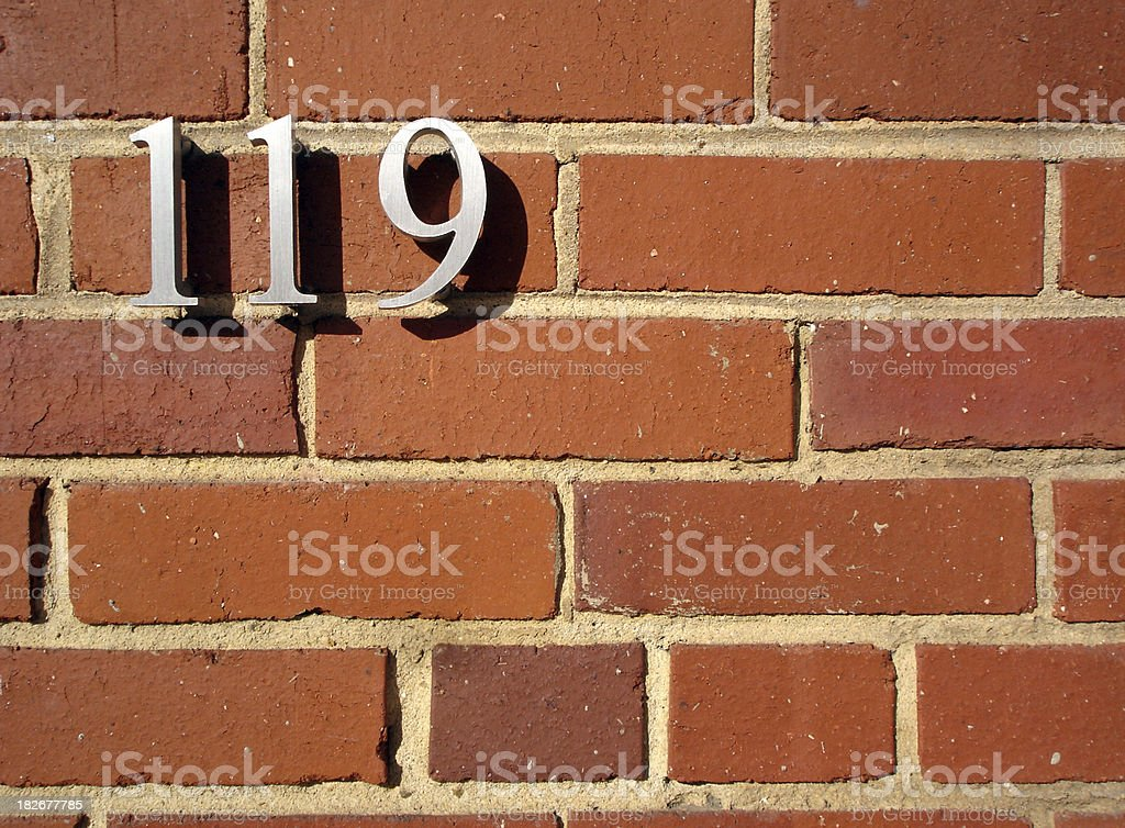 Brick and numbers royalty-free stock photo