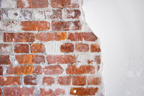 brick and plaster stock photo