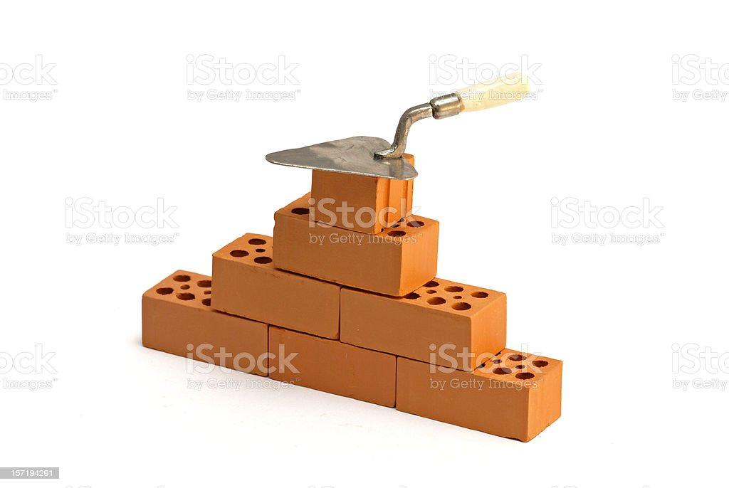 Brick and trowel royalty-free stock photo