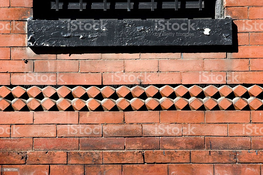 Brick and Window Background royalty-free stock photo