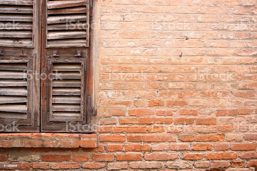 Brick and window royalty-free stock photo
