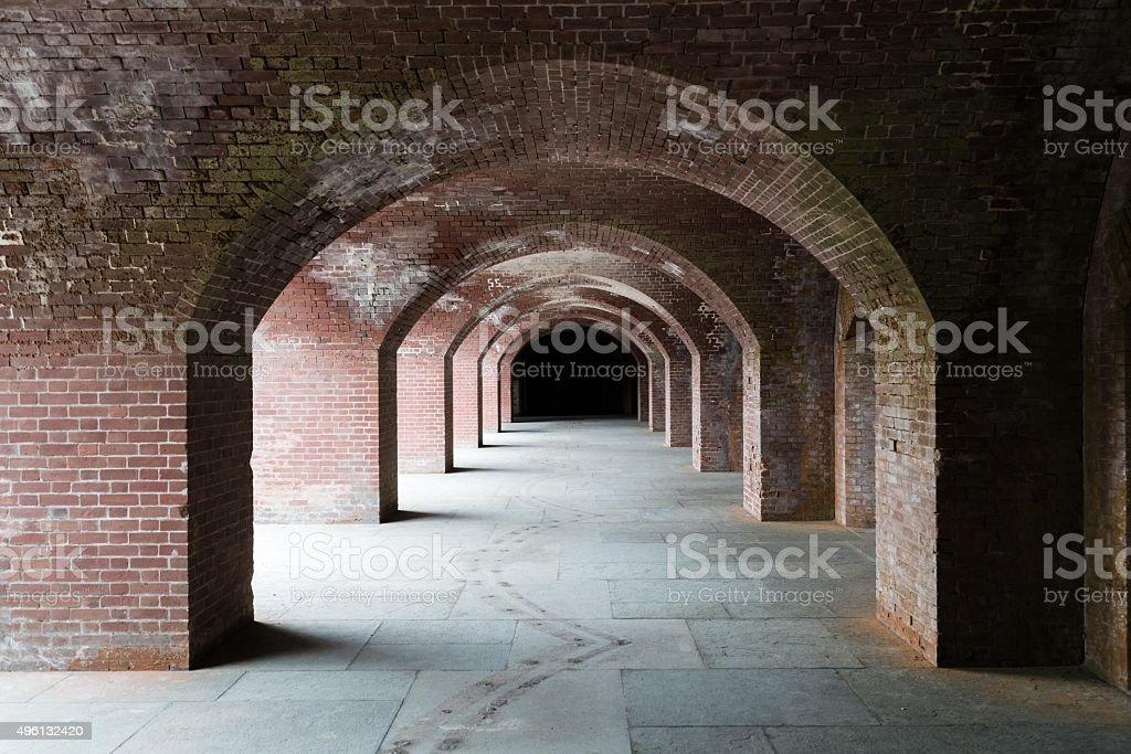 Brick Archway stock photo