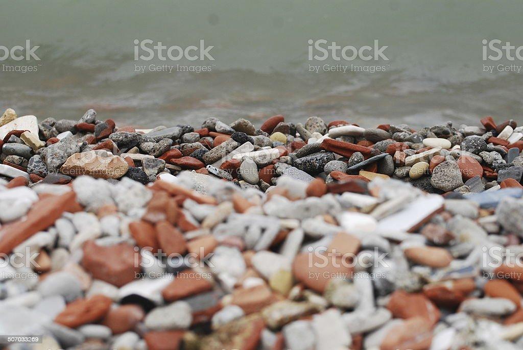 Brick Beach stock photo