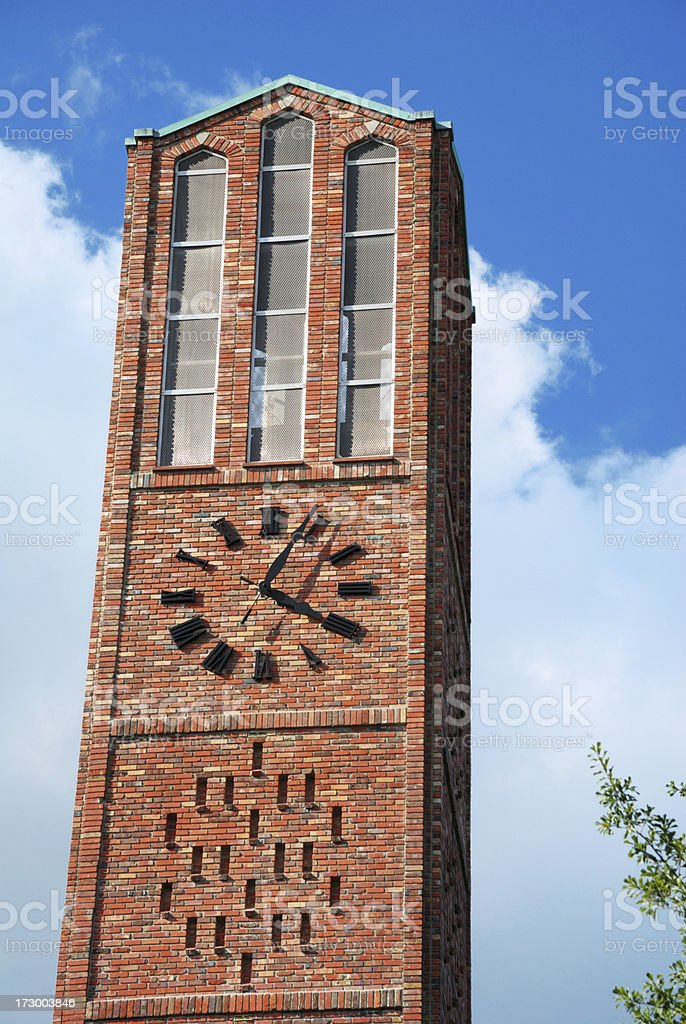 Brick bell tower royalty-free stock photo