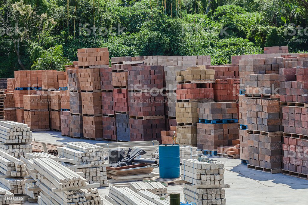 Brick Block Factory stock photo