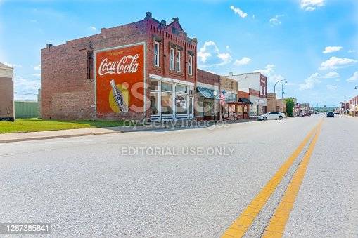 istock Brick buidlings,signs and street scenes Stroud, Oklahoma on Route 66 1267385641