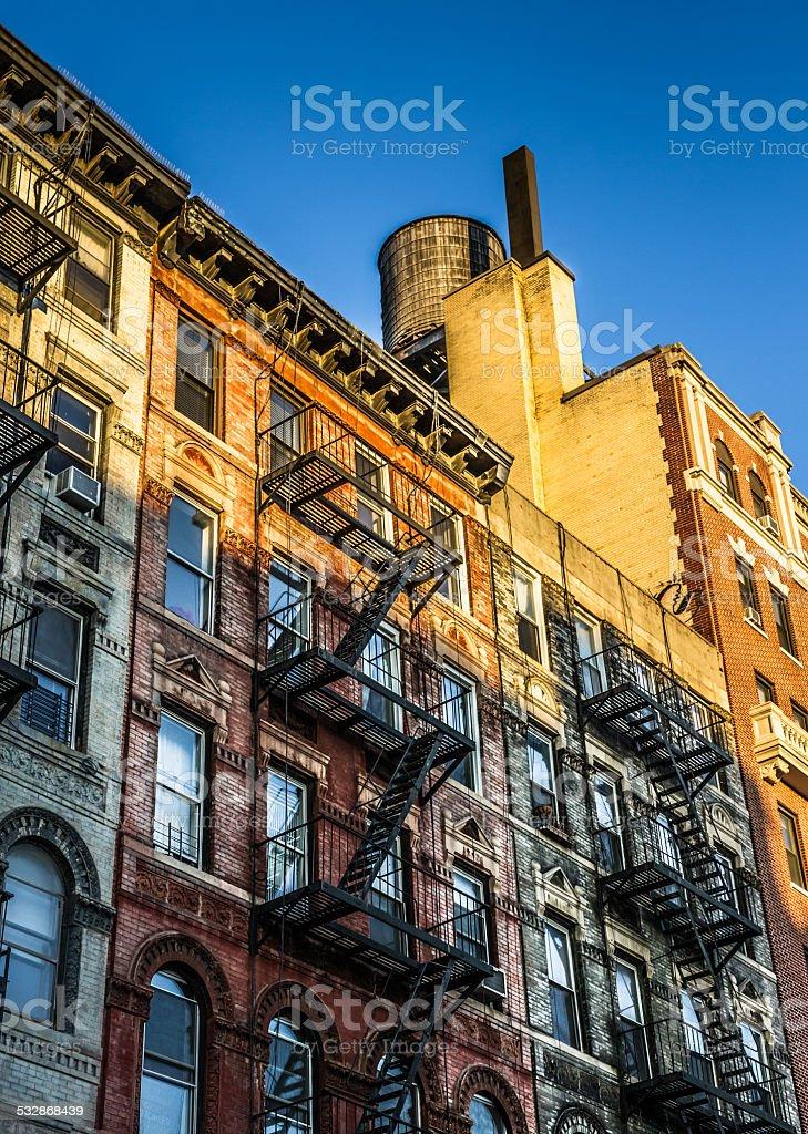 Brick Building Facades Manhattan stock photo