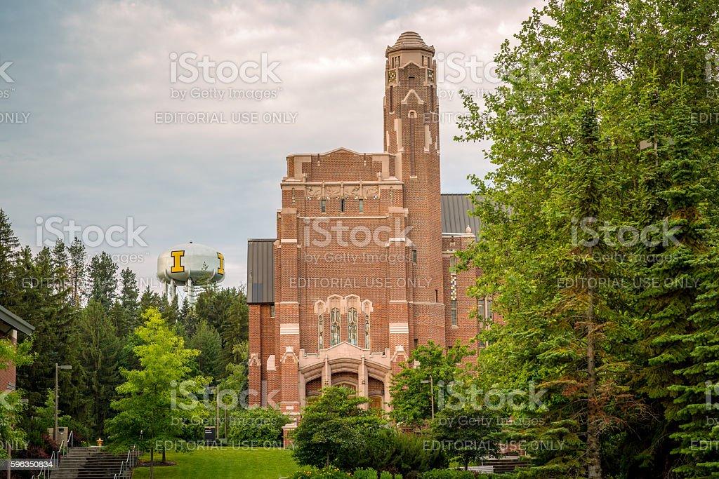 Brick building on the University of Idaho campus Lizenzfreies stock-foto