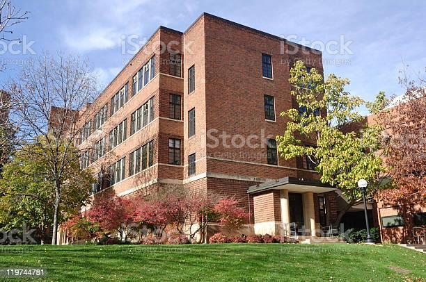 Brick building on university campus picture id119744781?b=1&k=6&m=119744781&s=612x612&h= q6mpn9tl30jcv 3fnfns o0ee46zv8wazb y5hi1tw=