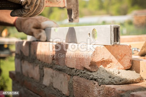 istock Brick building 487082084