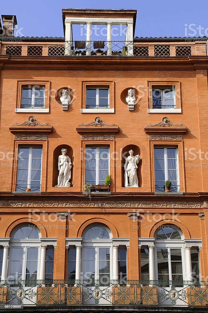 Edificio di mattoni foto stock royalty-free