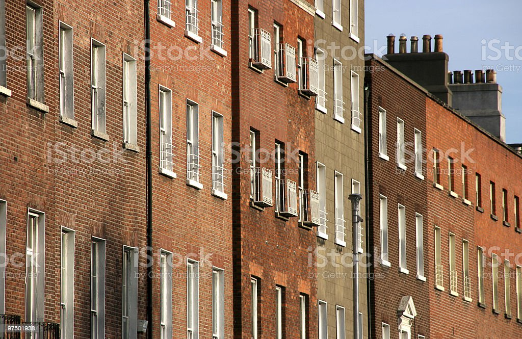 Brick buildings royalty-free stock photo