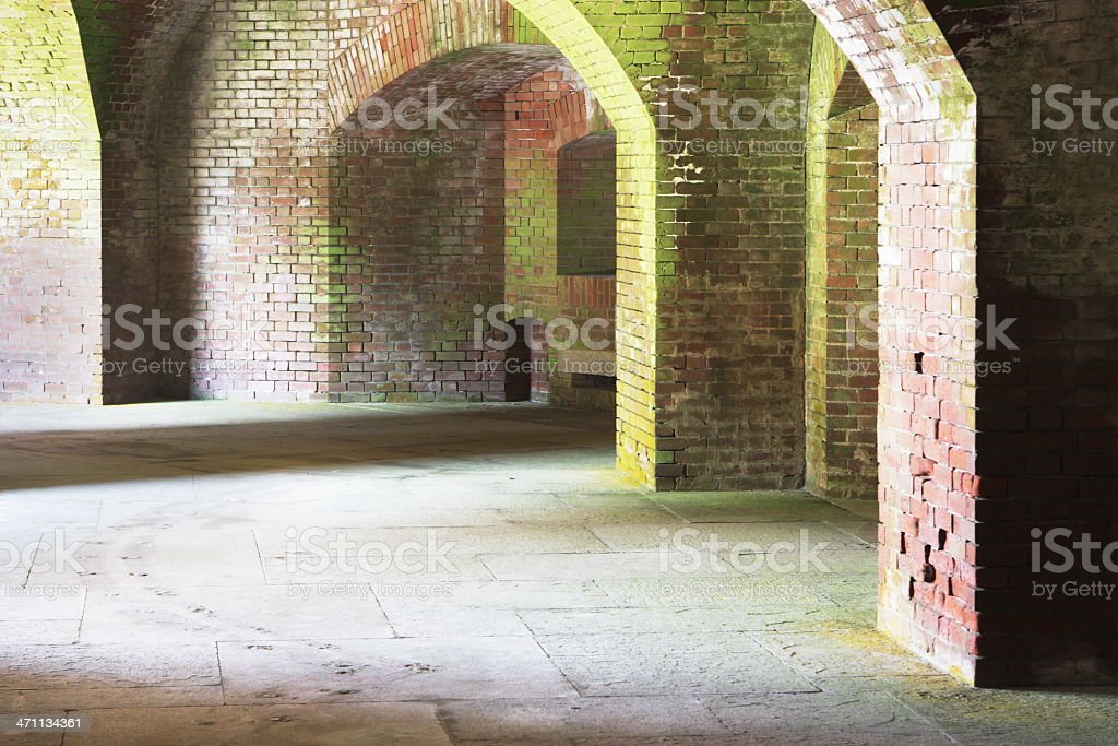 Brick Cellar Archway Fort Point Architecture stock photo