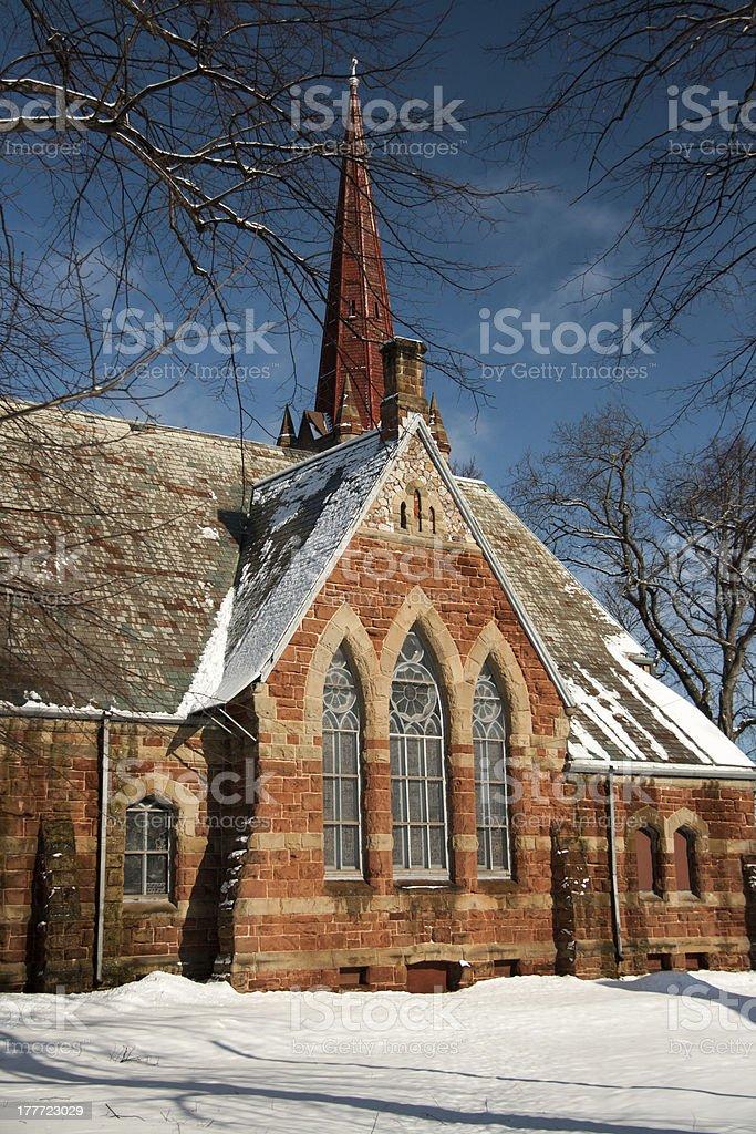 Brick Church royalty-free stock photo