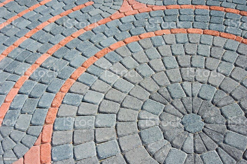 Brick Circle Pattern Abstract stock photo