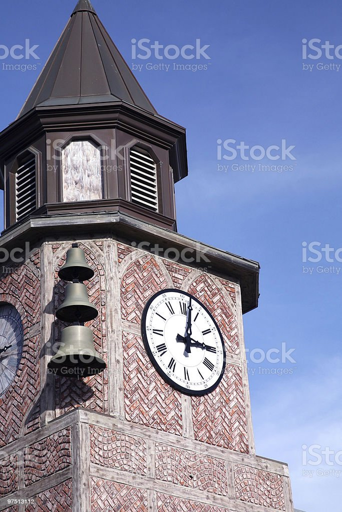 Brick Clock Tower royalty-free stock photo