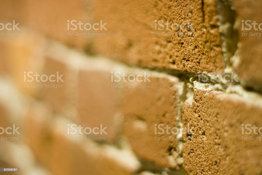 brick detail (lensbaby) stock photo
