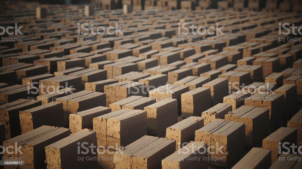 Brick dry stock photo