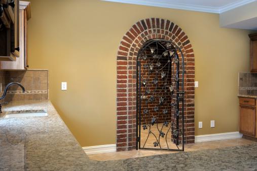 Brick Entrance to Wine Cellar