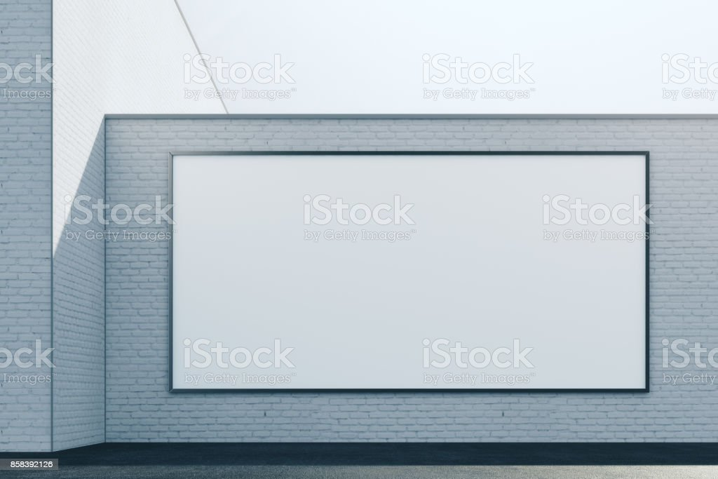 Brick exterior with white panel front stock photo