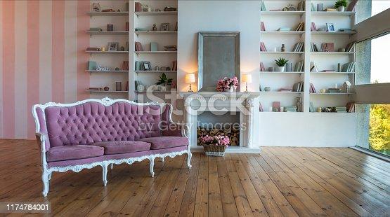 1095381860istockphoto brick fireplace, built ins, stone fireplace, coastal, paint, wall, cozy, alcove, gray, interior design ideas 1174784001