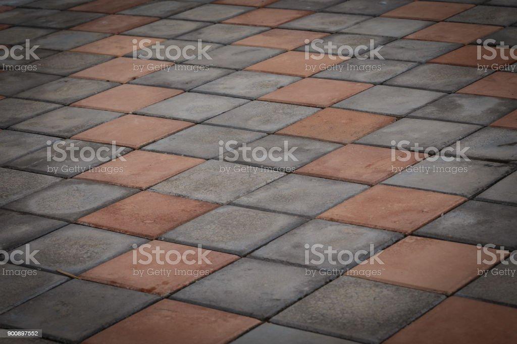 Brick floor texture background stock photo