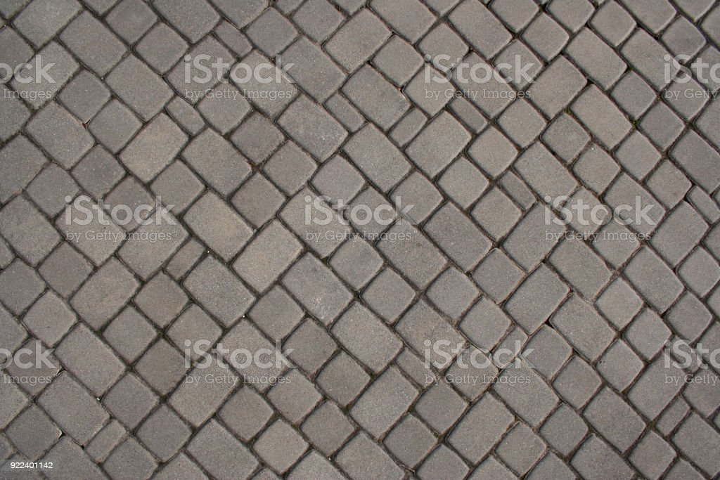 Brick Grey Cobble Stone Ground Texture