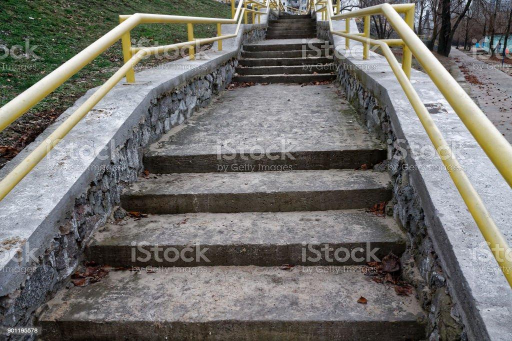 Grunge Stein Treppen Und Felsen Mauer Stockfoto und mehr ...