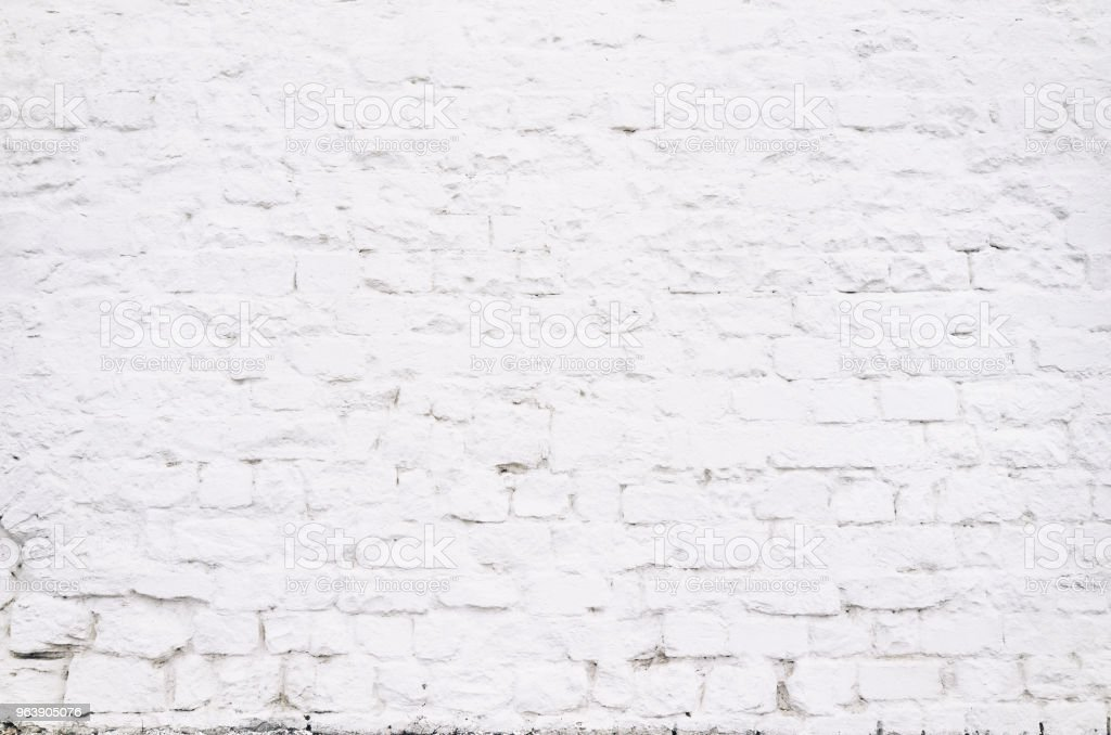 Brick grunge white red old wall texture background - Royalty-free Abandoned Stock Photo
