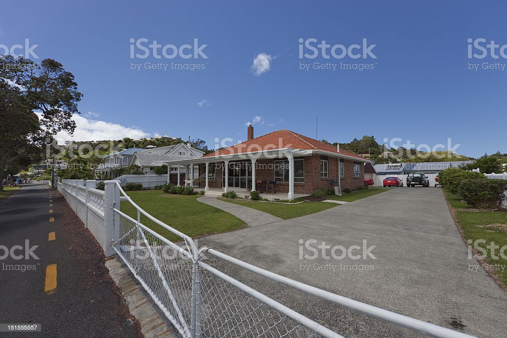 Brick Home in Russell royalty-free stock photo