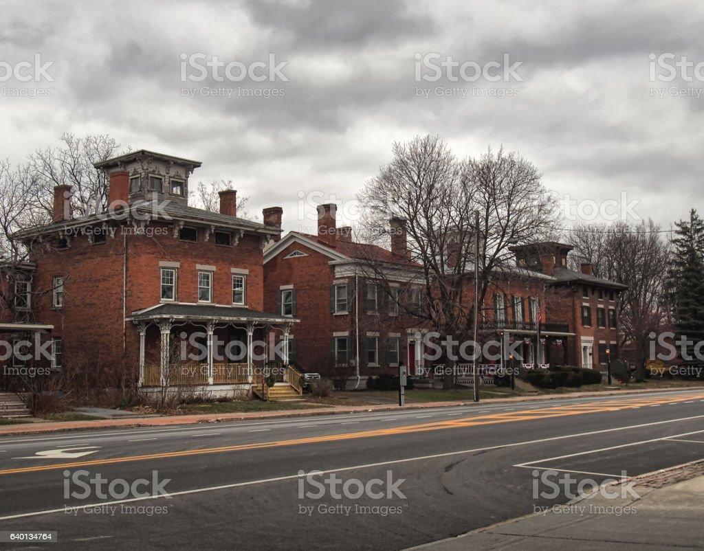 brick homes stock photo