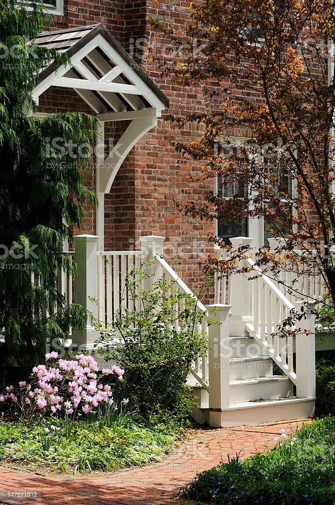 Brick House Entrance royalty-free stock photo