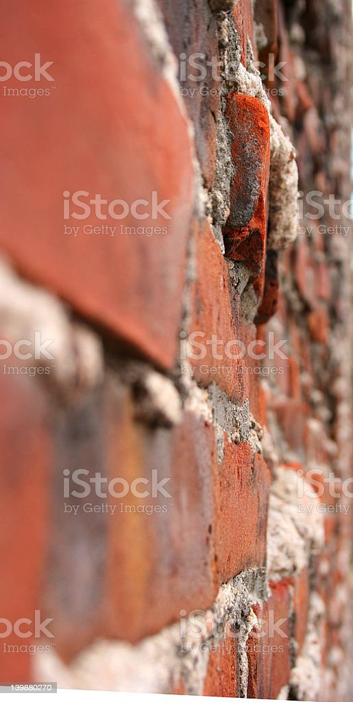 Brick house! Mighty, mighty royalty-free stock photo
